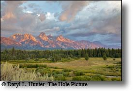 The Grand Tetons at sunrise, Jackson Hole, Wyoming