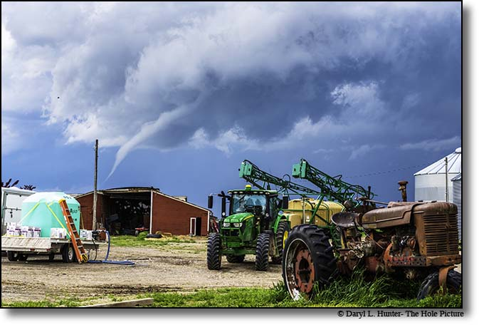 Funnel cloud, farm, Idaho Falls, Idaho