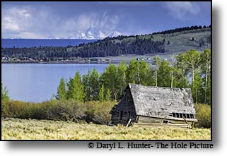 Old barn, thunderstorm, Henrys Lake, Island Park, Idaho