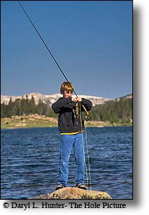 fishing littel bear lake, beartooth mountains