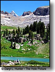 hikers Alaska Basin Grand Teton Mountain Range Teton Crest Trail Jedidiah Smith Wilderness