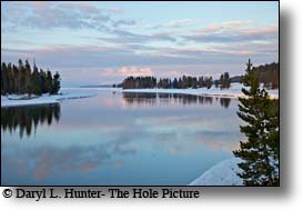 Yellowstone River Sunrise from Fishing Bridge