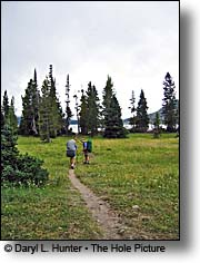 Backpackers Yellowstone National Park