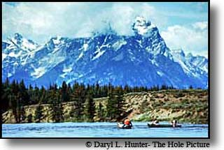 canoers Grand Teton National Park Jackson Hole Wyoming