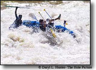 Whitewater Rafting in Blind Canyon norht of Alpine Wyoming