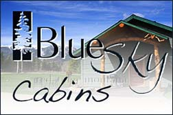 Blue sky cabins, red lodge montana