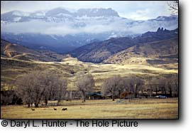 ranch, absaroka mountains, cody wyoming
