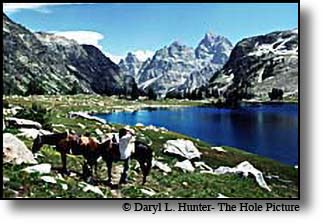horseback rider Lake Solitude Grand Teton