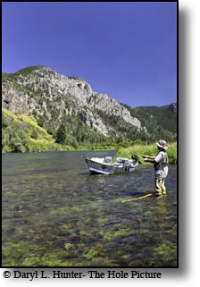 John Rennell fishing the south fork of the snake river