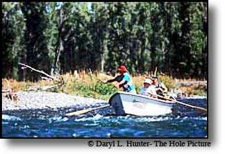 Henry's Fork Outfitter Mike Lawson fly fishingwith Chuck Yeager