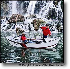 fly fisherman waterfall south fork of the snake river