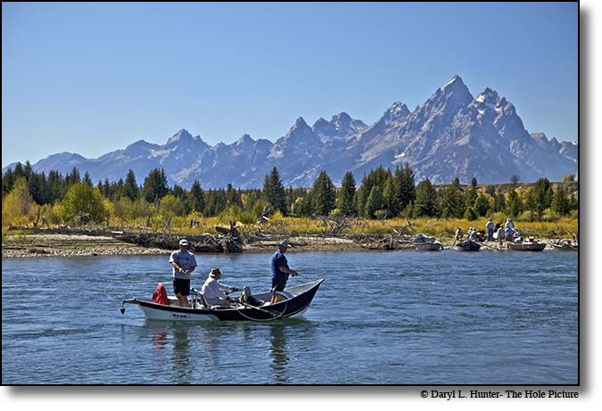 Guided fishing trip, Snake River