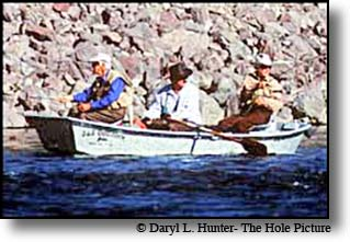 Lee Wulff & Curt Gowdy - flyfishing in the One Fly Fishing Contest