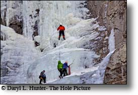 Ice climbers, cody wyoming