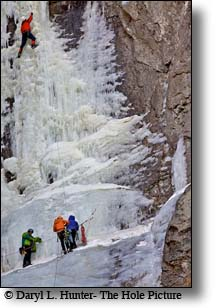Ice Climbing, cody wyoming