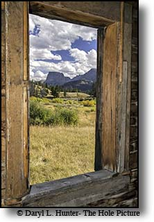 Window onto the Wind River Mountains