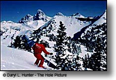 Grand Targhee Skier, Grand Teton