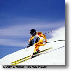 downhill ski racer, Snow King Mountain