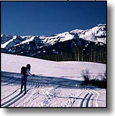 groomed cross country ski trail
