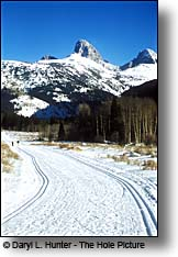 Teton Creek ski trail Driggs ID