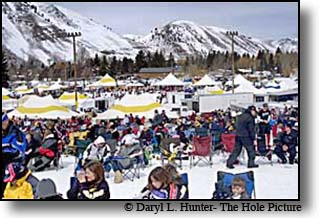 Jackson Hole's World Championship Snowmobile Hill Climb