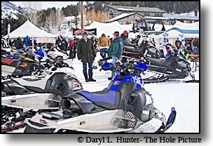 Jackson HoleÕs World Championship Snowmobile Hill Climb