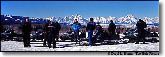 Snowmobile Jackson Hole togwotee Pass