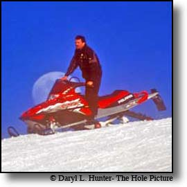 snowmobiler full moon