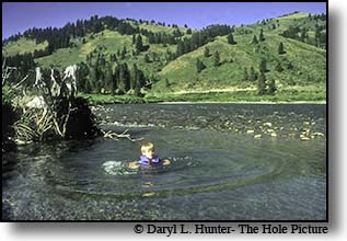 boy swimming Greys River