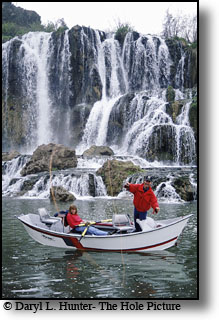 Fly-fishing, snaker river, fall creek falls, swan valley, Idaho